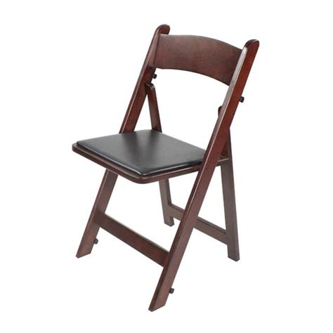 mahogany wood folding chair w pad rental