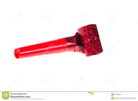 Party Blower stock photo. Image of whistle, background