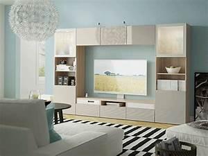 Meubles Besta Ikea : meuble tv pas cher meuble t l design ikea ~ Nature-et-papiers.com Idées de Décoration