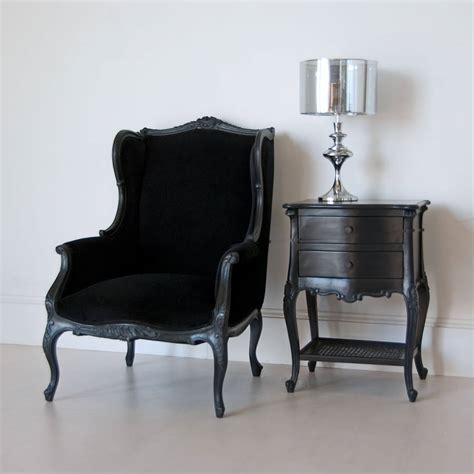 black wingback chair by out there interiors
