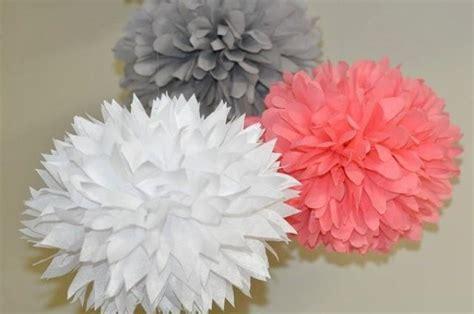 3 Poms White Gray And Coral Bridal Shower Bachelorette
