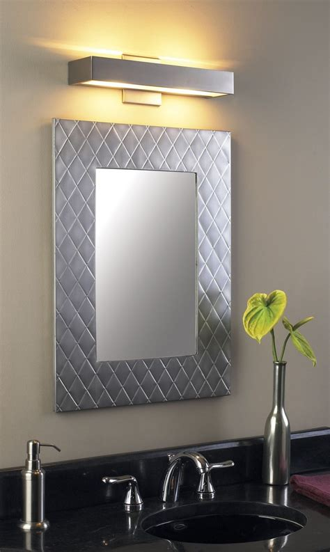 2021 popular brushed nickel wall mirrors for bathroom