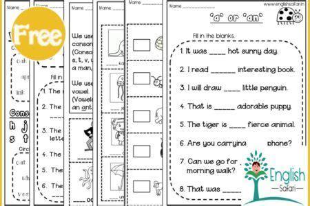 articles    set  worksheets  grade  grade