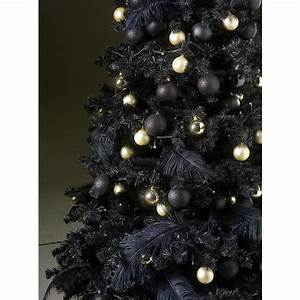 Geschmückte Weihnachtsbäume Christbaum Dekorieren : deko christbaum schwarz geschm ckt 210 cm dekoration bei dekowoerner ~ Markanthonyermac.com Haus und Dekorationen