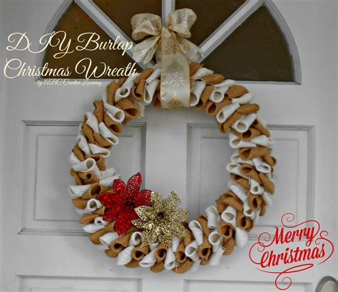 burlap christmas wreath abc creative learning sugar