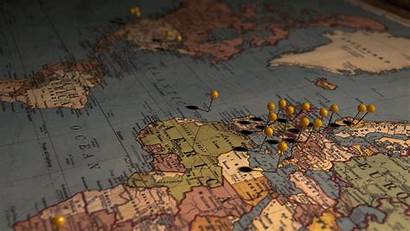 Map Wallpapers Europe Pins