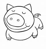 Coloring Pages Animal Easy Animals Pig Farm Funny Simple Cute Printable Drawing Draw Sheets Rocks Print Baby Eyes Getdrawings Getcoloringpages sketch template