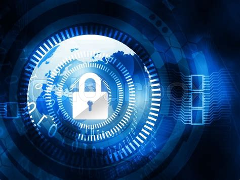 digital background  internet security stock photo