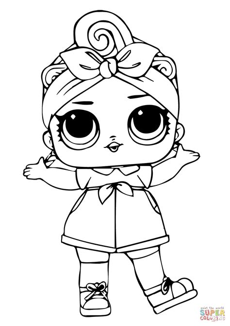 Can Do Baby LOL Surprise Doll coloring page Free