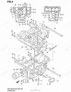 Suzuki Motorcycle 1999 Oem Parts Diagram For Crankcase