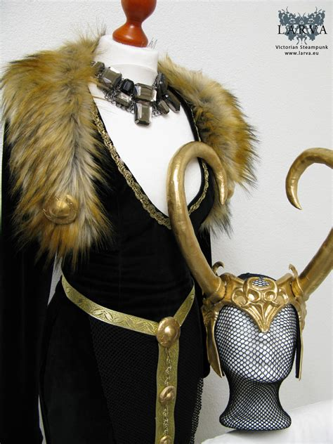 Lady Lokis Costume Larva Historical Dressmaking
