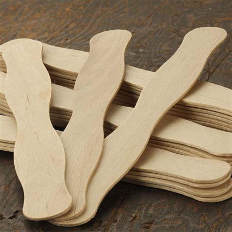 unfinished wood wavy paddle fan sticks popsicle sticks