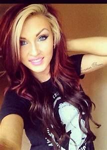 Dark red & blonde hair | Head to toe beautiful | Pinterest ...