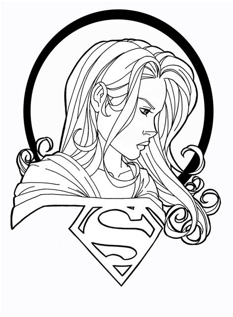 Kleurplaat Batgirl by Batgirl And Supergirl Coloring Pages Getcoloringpages