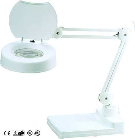 8 diopter magnifying l table magnifying l 5 inch 8 diopter lens with cover white