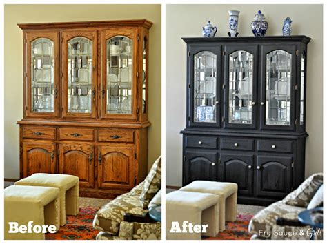 Purple Black Bedroom Decor Miss Mustard Seed Milk Paint China Cabinet Makeover
