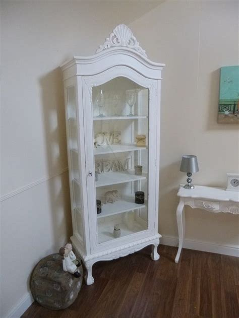 french armoire display cabinet handmade french shabby chic display cabinet display