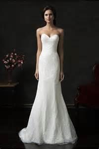 simple lace wedding dress simple mermaid strapless tulle lace wedding dress court