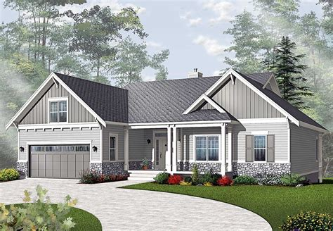 airy craftsman style ranch dr architectural designs house plans