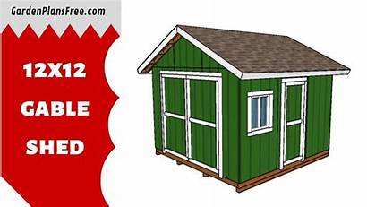 Shed Plans Gable 12x12 Floor Cabin Roof