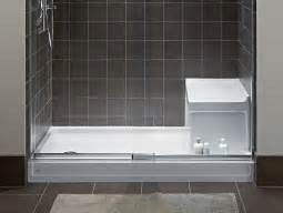 Bathtub Replacement Options by Shower Bases Easy Design From The Ground Up Kohler