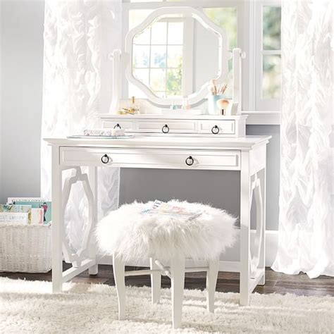 Vanity And Desk by Elsie Classic Vanity Desk Pbteen