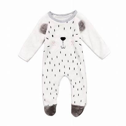 Bear Clothes Romper Boys Sleeve Fluffy Jumpsuit