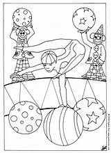 Circus Coloring Acrobat Pages Print Printable Things Sheet Characters Animal Hellokids Bear sketch template