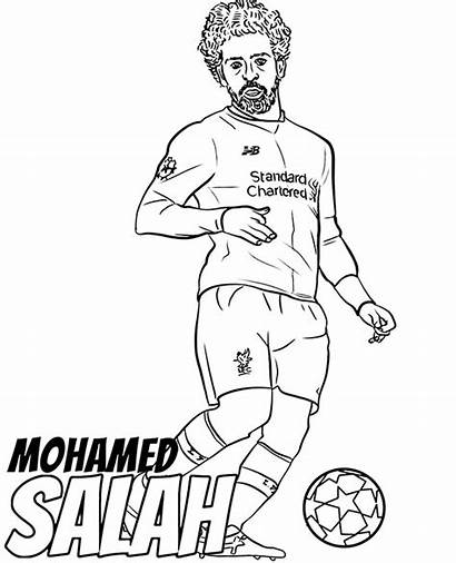Coloring Salah Pages Player Mohamed Athletes Football