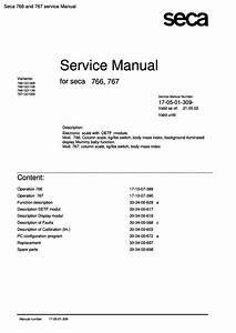 Seca 766 And 767 Service Manual Pdf - The Checkout Tech