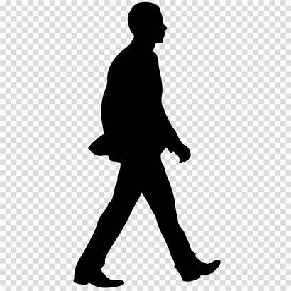 Walking Silhouette Clipart Cartoon Transparent Person Clip