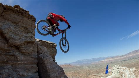 Bicycles Sports Extreme Red Bull Rampage Mountain Cliff