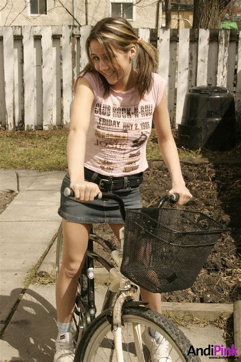 Nasty Teen Honey Cycling In Very Short Skirt Xbabe