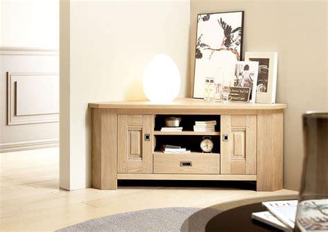 acheter votre meuble t 233 l 233 contemporain d angle en ch 234 ne clair chez simeuble