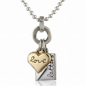 Love letters necklace contemporary necklaces pendants for Love letter necklace