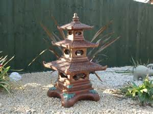 three tier pagoda garden statue ornament japanese koi berkshire stonewareberkshire stoneware