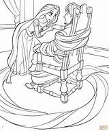 Coloring Rapunzel Flynn Printable Drawing Ties Skip Colorings sketch template