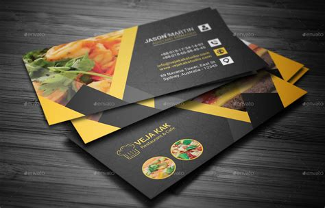 Restaurant Business Card By Vejakakstudio Free Online Business Card Templates For Word Bank Of America Activation Number Template Usa Organizer Philippines Wedding Office Depot Account Program
