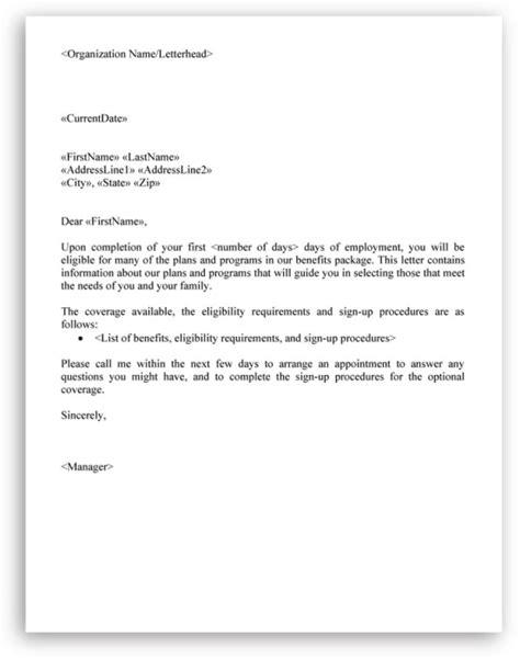 sample letter  employees  benefits charlotte
