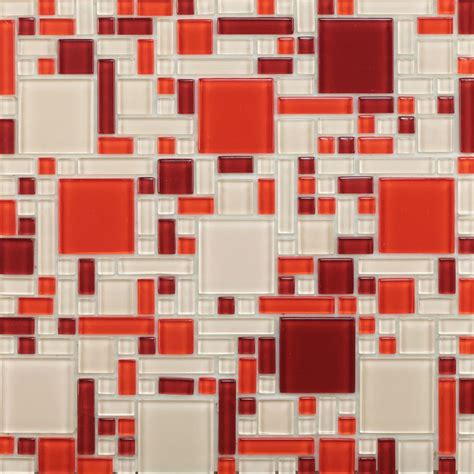 peel and stick glass mosaic tile pack of 1