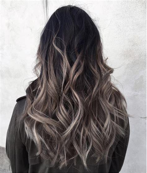 Grey Ombré Hair Colour And Highlights Long Hair Styles H