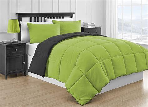 comfy bedding reversible microfiber black lime green 3