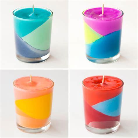 2 couleurs dans une chambre fabriquer des bougies avec des crayons à la cire