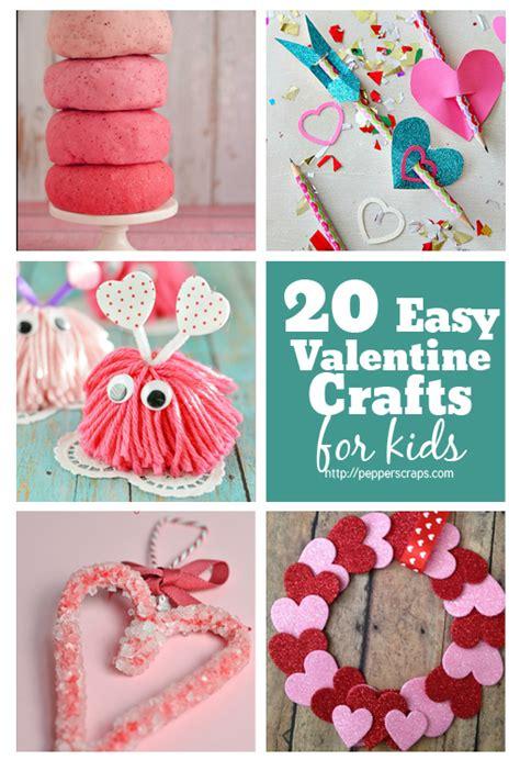 20+ Easy Valentine's Day Crafts For Kids  Pepper Scraps