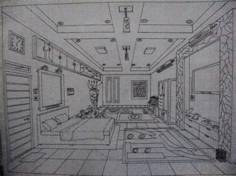 cara membuat gambar rumah perspektif