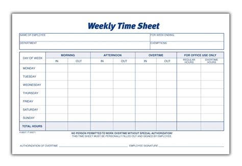 Weekly Timesheet Template Template Weekly Timesheet Template Weekly Timesheet Template