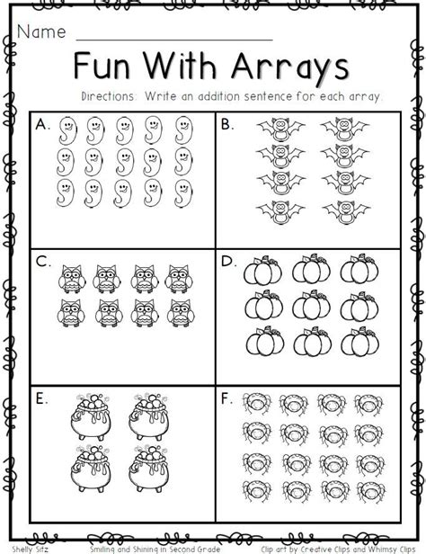 smiling and shining in second grade arrays bc
