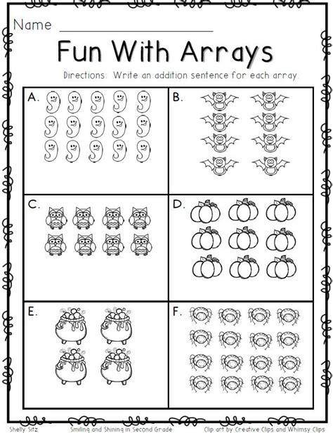 3rd Grade Math Multiplication Arrays Worksheets  Multiplication Models Worksheetsrepeated