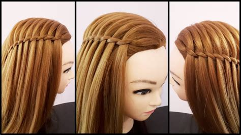 Waterfall Hairstyle For Girls Easy Hairstyle For