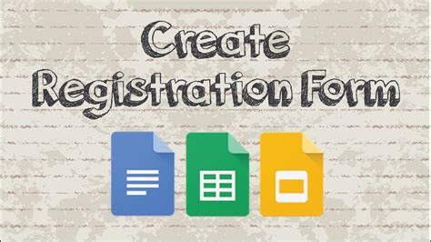 create  registration form  google docs youtube